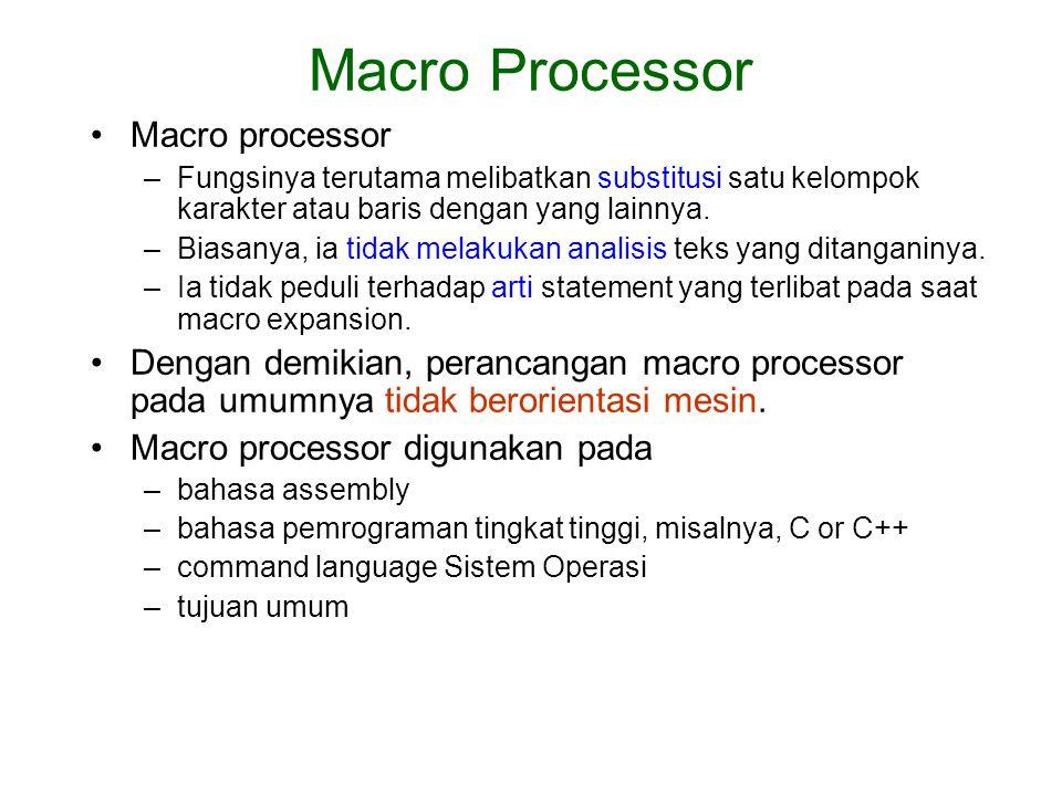 Macro Processor Macro processor