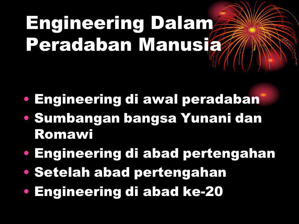 Engineering Dalam Peradaban Manusia