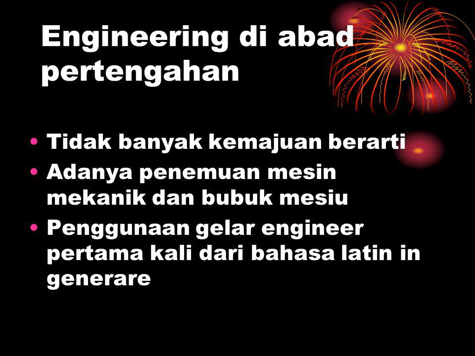 Engineering di abad pertengahan