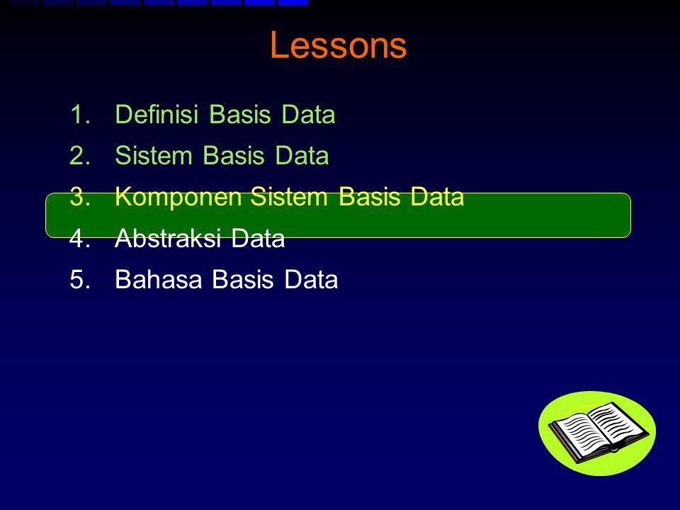 Lessons Definisi Basis Data Sistem Basis Data