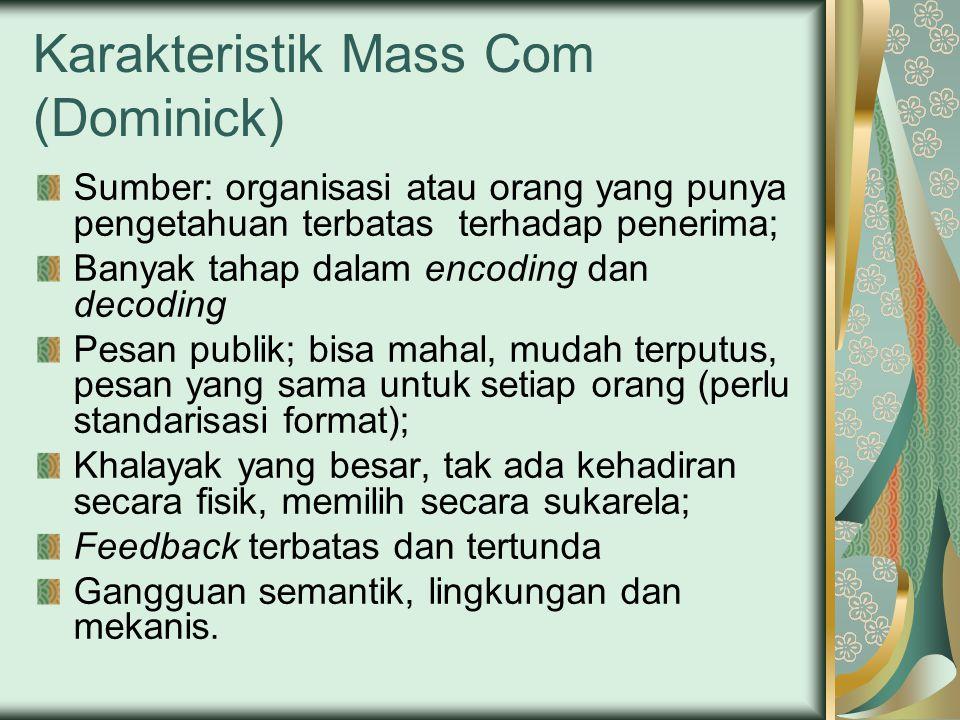 Karakteristik Mass Com (Dominick)