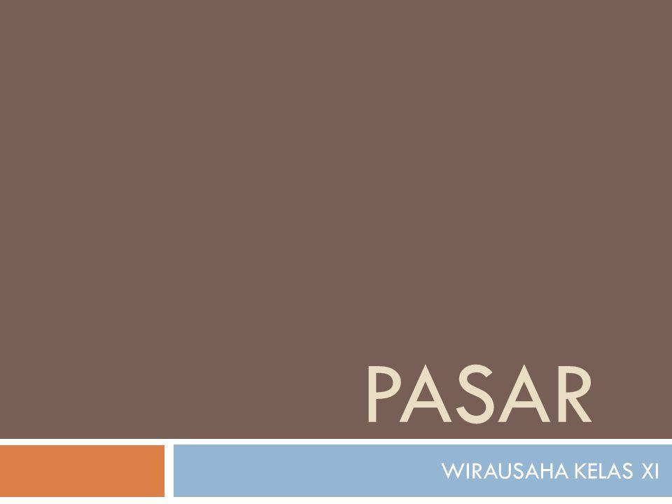 PASAR WIRAUSAHA KELAS XI