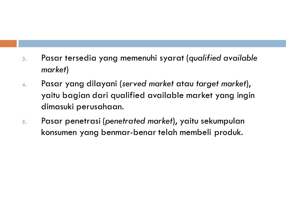 Pasar tersedia yang memenuhi syarat (qualified available market)