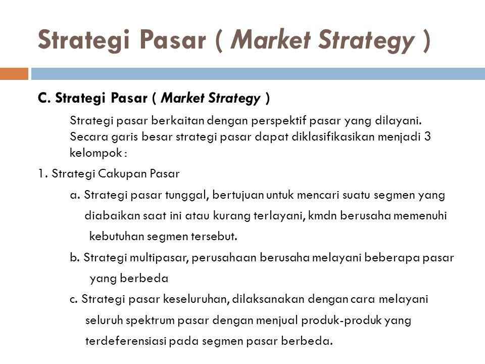 Strategi Pasar ( Market Strategy )
