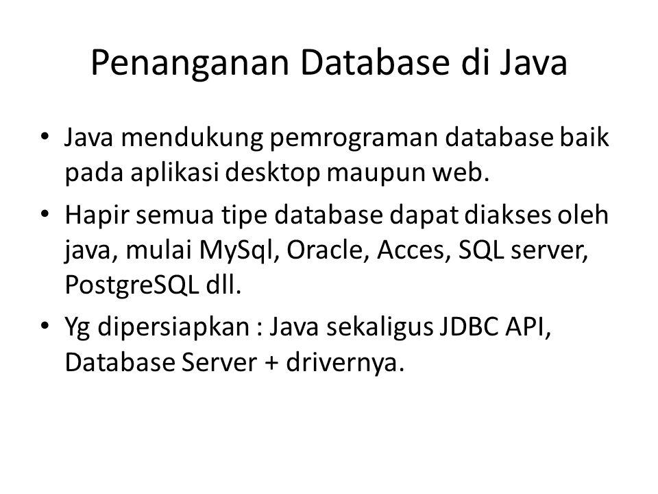 Penanganan Database di Java