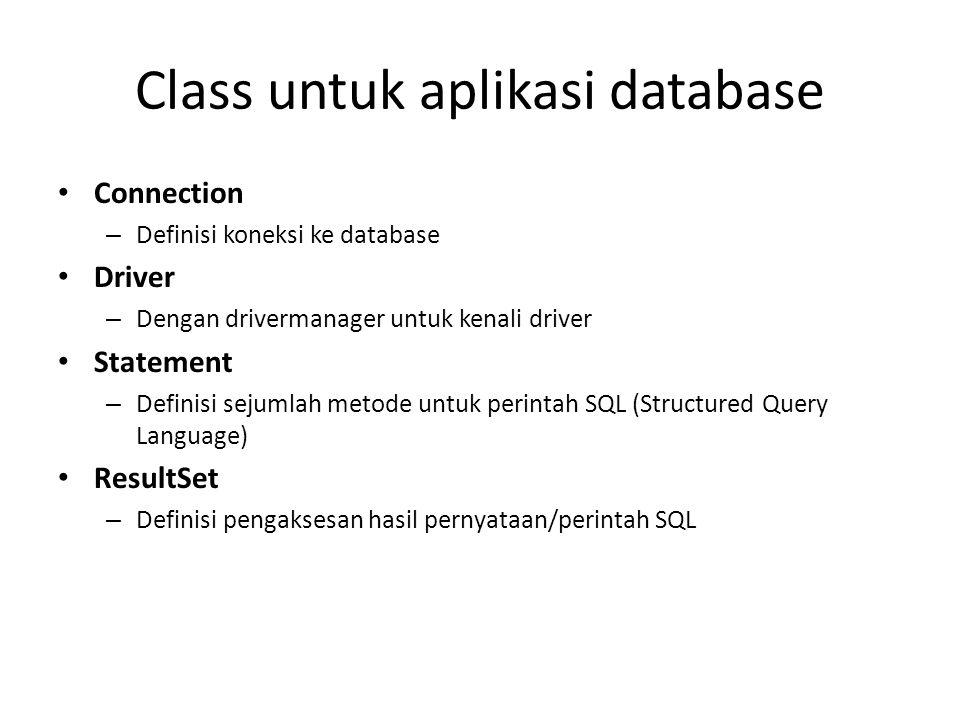 Class untuk aplikasi database