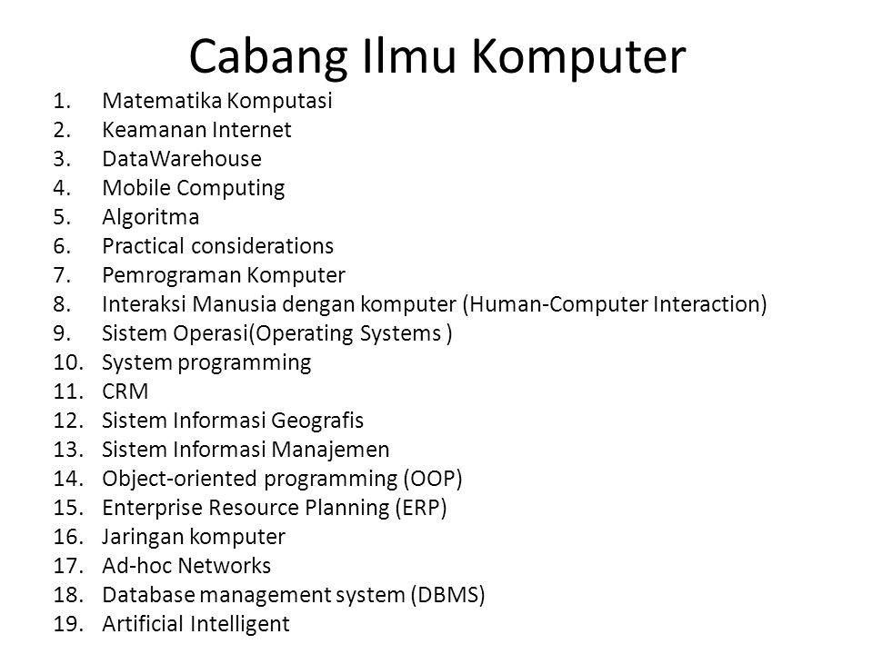 Cabang Ilmu Komputer Matematika Komputasi Keamanan Internet