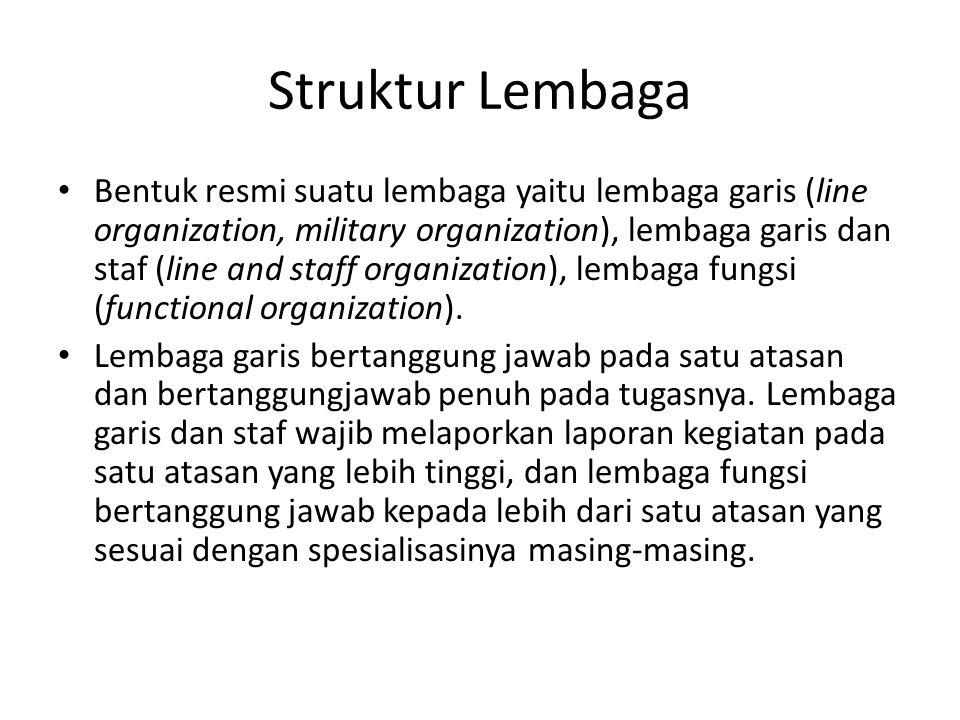 Struktur Lembaga