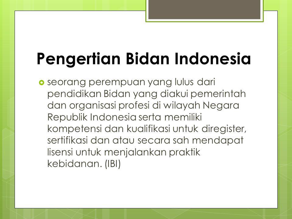 Pengertian Bidan Indonesia