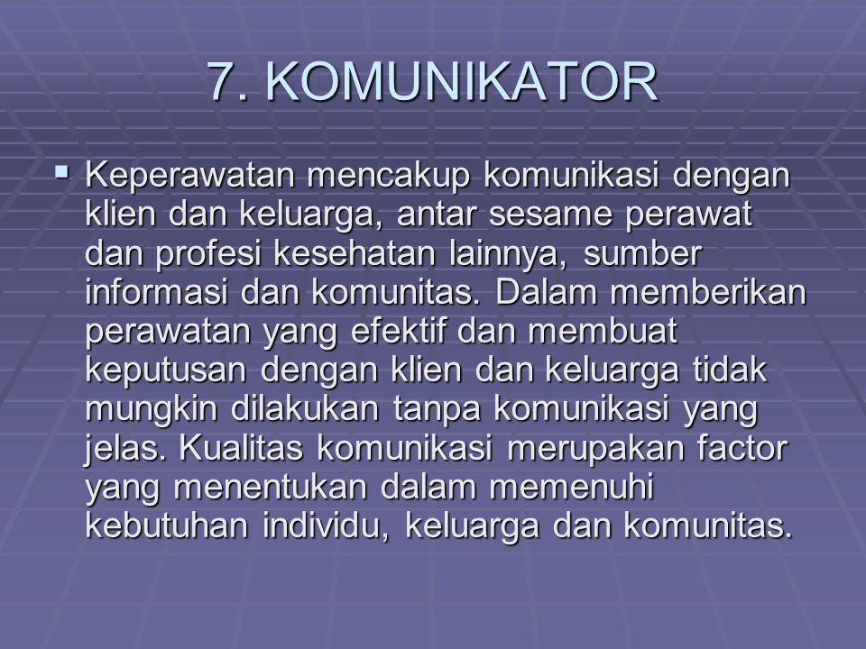 7. KOMUNIKATOR
