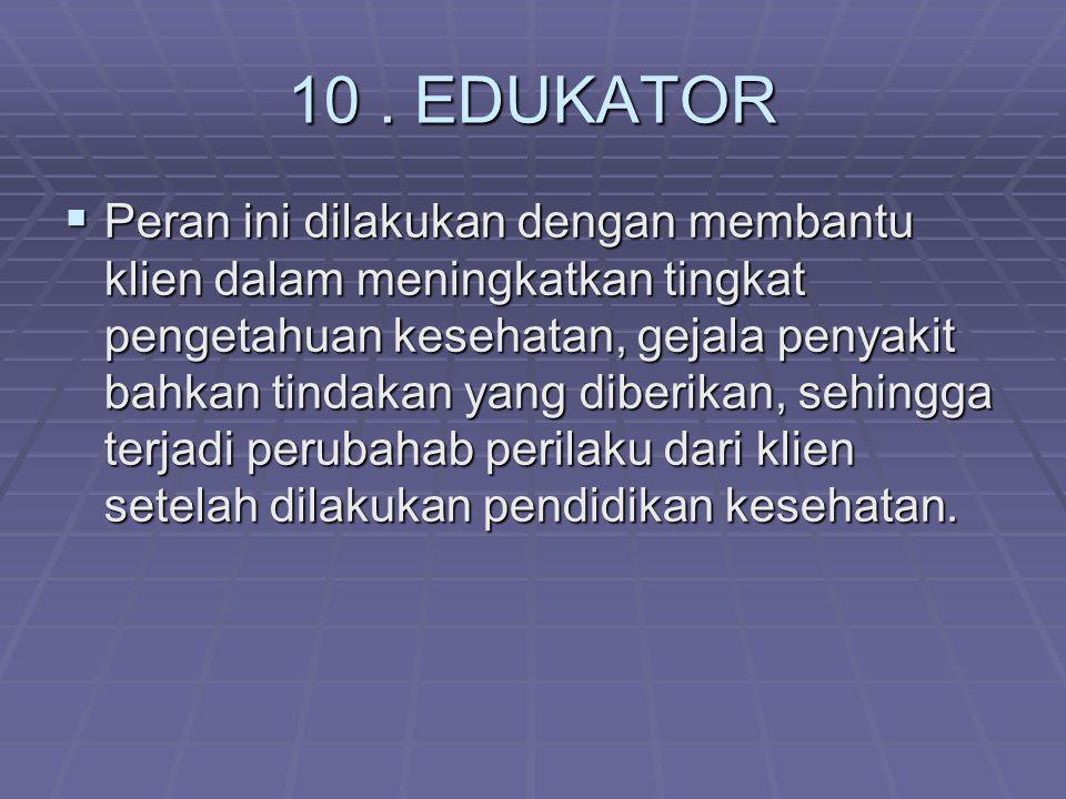 10 . EDUKATOR