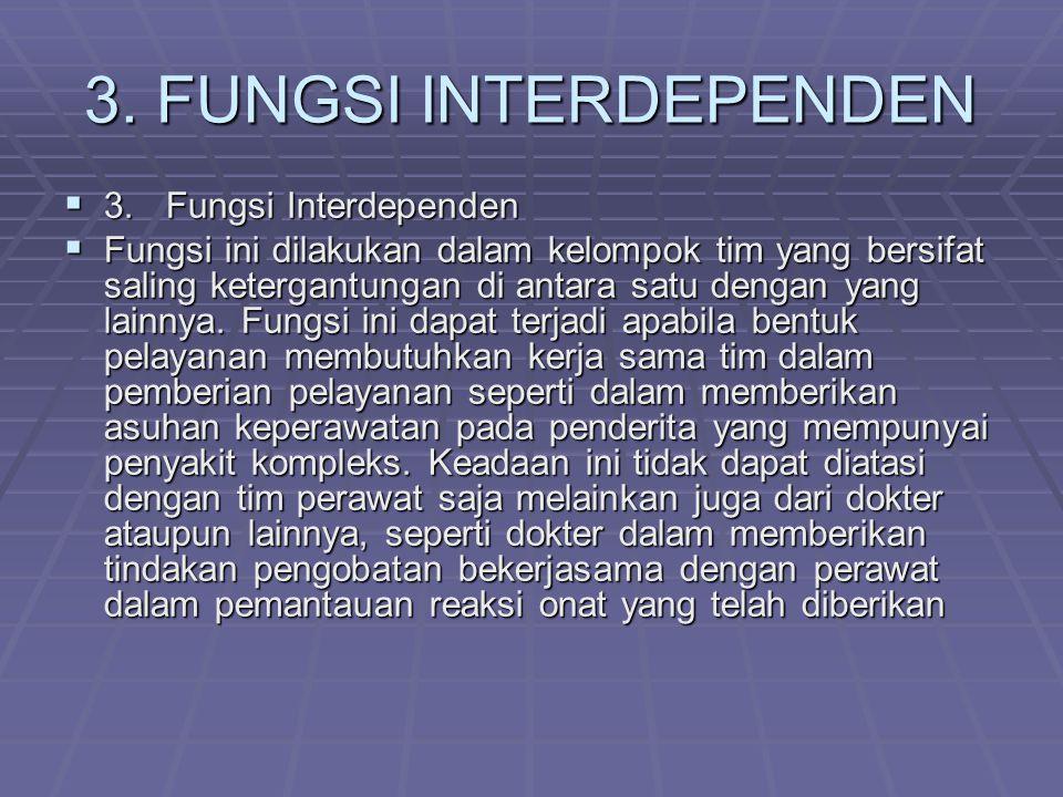 3. FUNGSI INTERDEPENDEN 3. Fungsi Interdependen