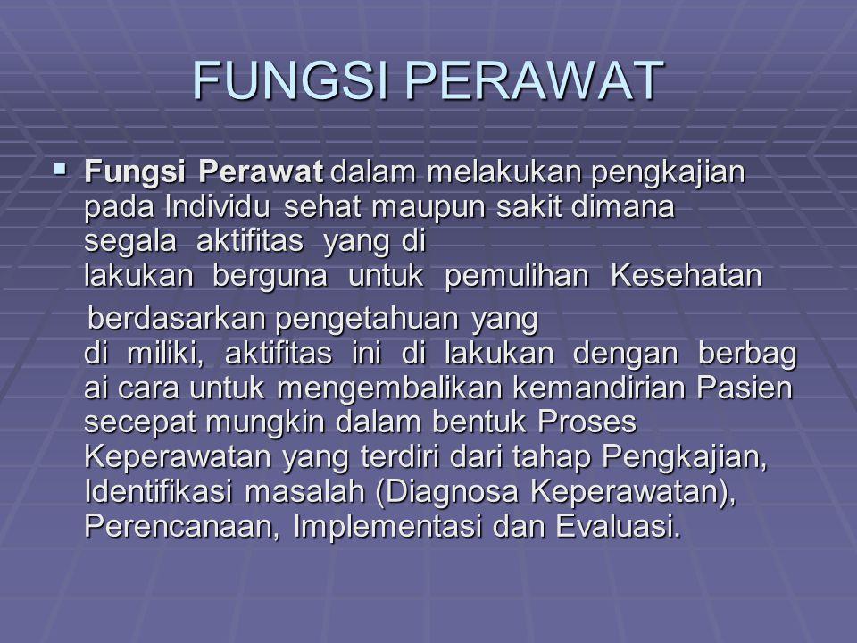 FUNGSI PERAWAT