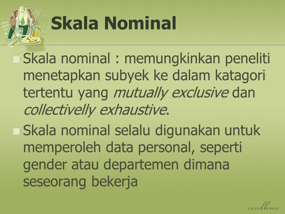 Skala Nominal