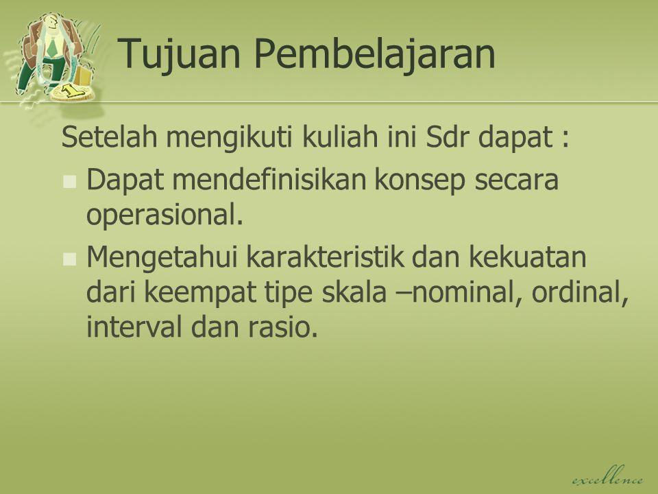 Tujuan Pembelajaran Setelah mengikuti kuliah ini Sdr dapat :