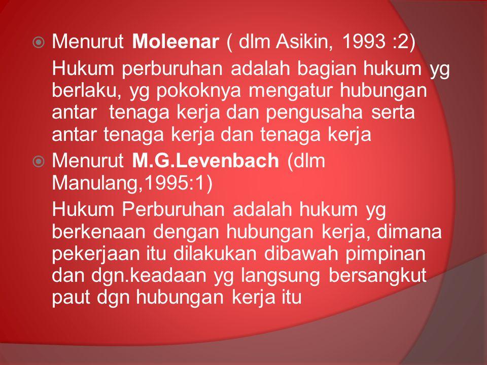 Menurut Moleenar ( dlm Asikin, 1993 :2)