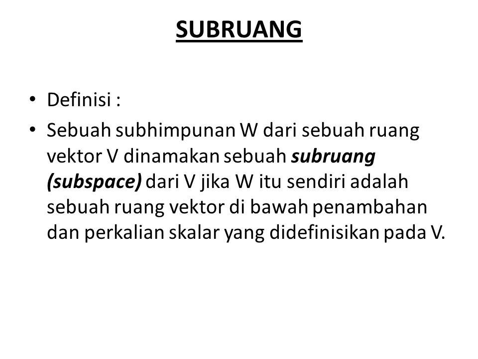 SUBRUANG Definisi :