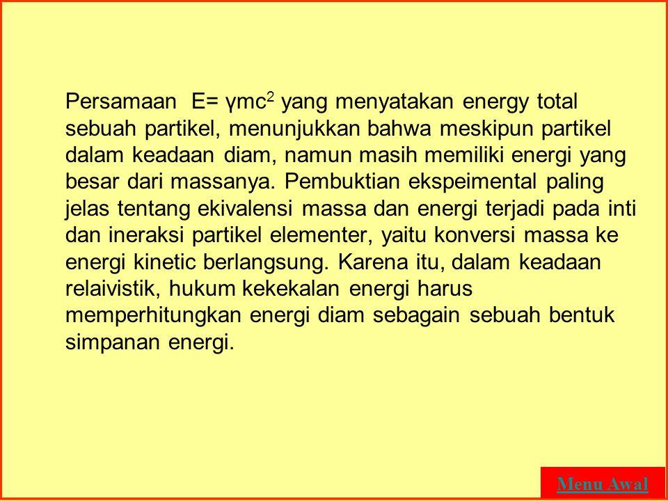 MASSA DAN ENERGI