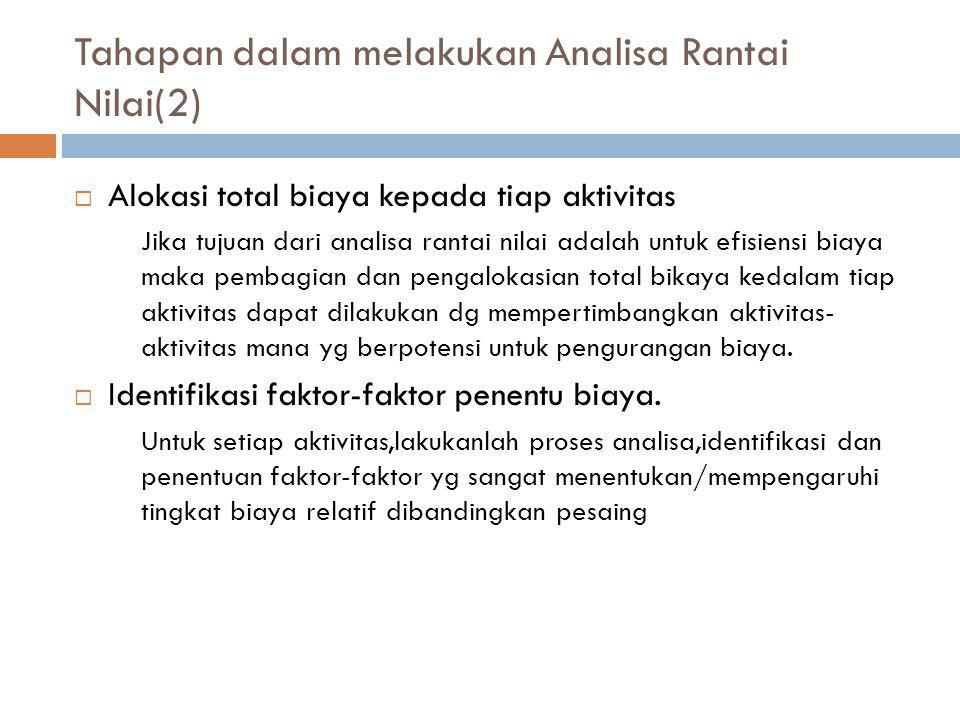 Tahapan dalam melakukan Analisa Rantai Nilai(2)