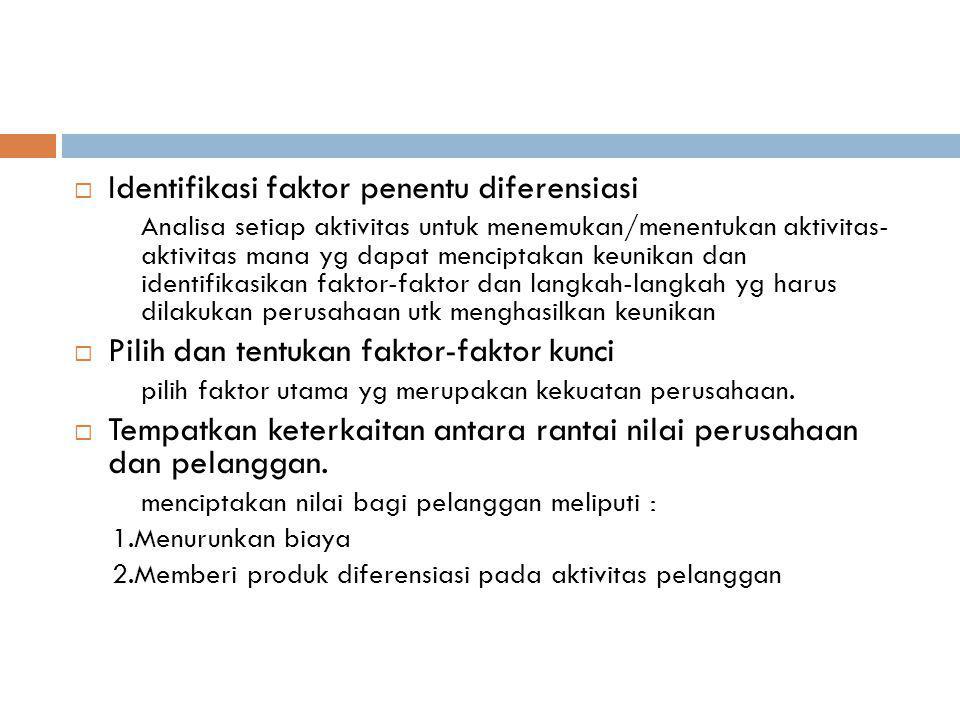 Identifikasi faktor penentu diferensiasi