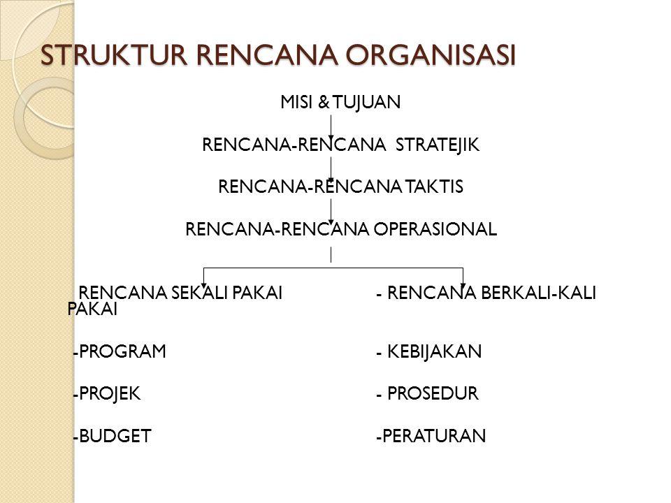 STRUKTUR RENCANA ORGANISASI
