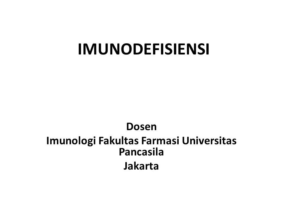Dosen Imunologi Fakultas Farmasi Universitas Pancasila Jakarta