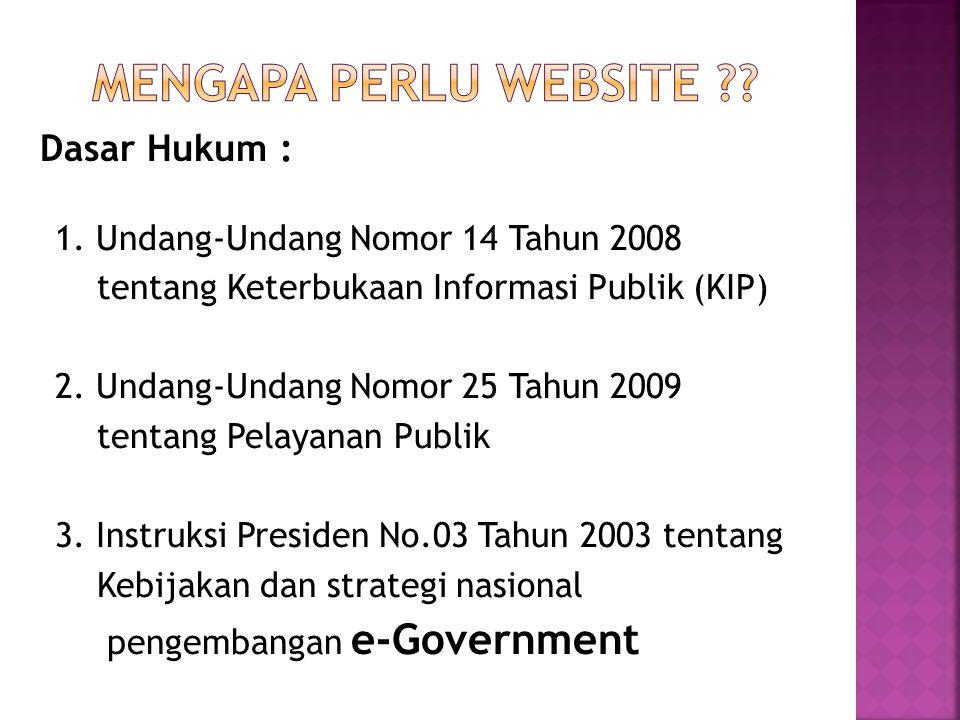 Mengapa Perlu Website Dasar Hukum :