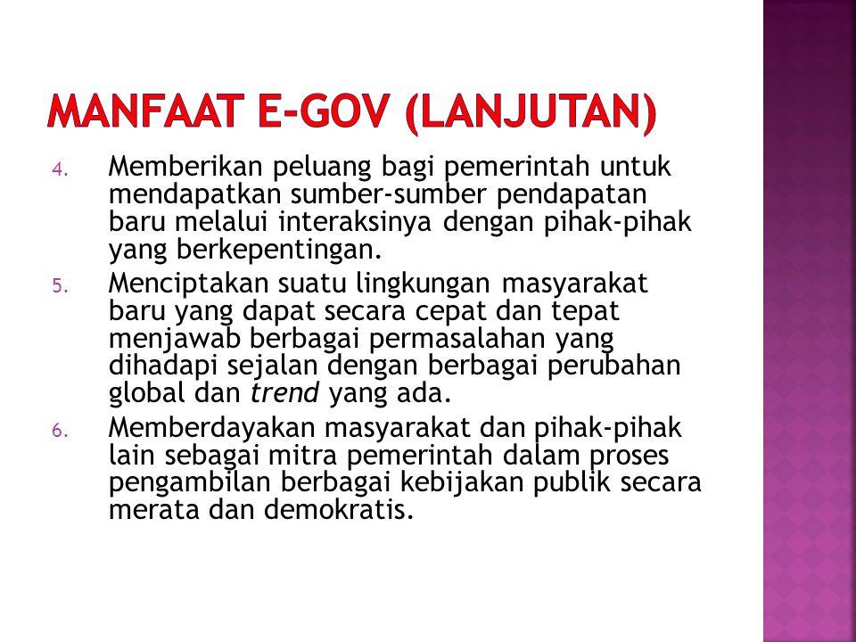 MANFAAT e-GOV (lanjutan)