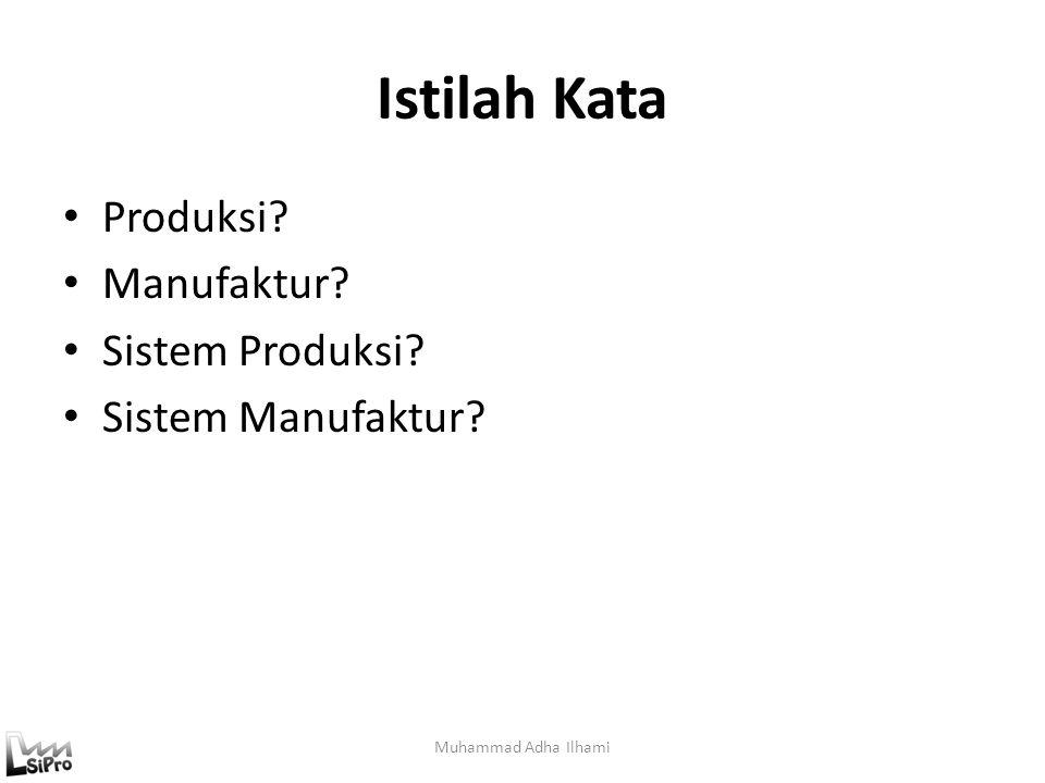 Istilah Kata Produksi Manufaktur Sistem Produksi Sistem Manufaktur