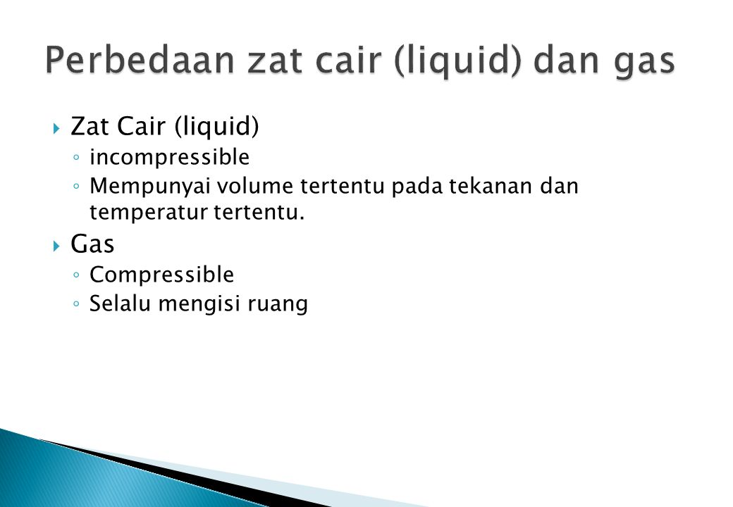Perbedaan zat cair (liquid) dan gas