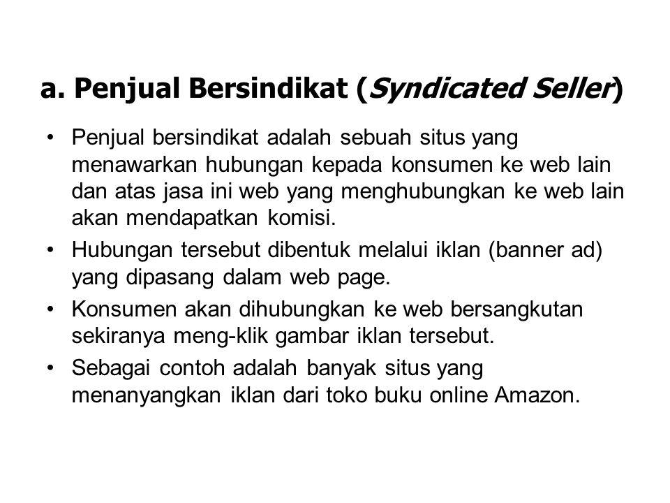 a. Penjual Bersindikat (Syndicated Seller)