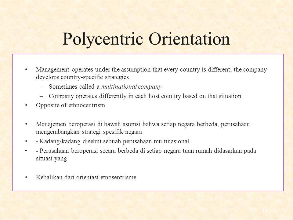 Polycentric Orientation