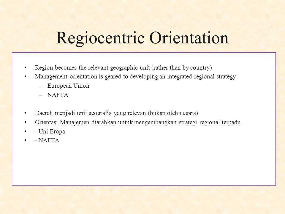 Regiocentric Orientation
