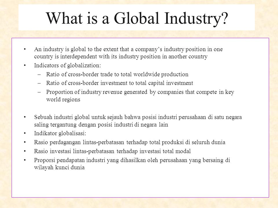 What is a Global Industry