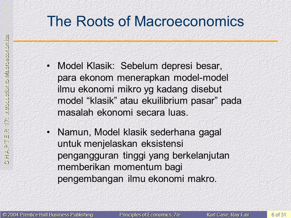 The Roots of Macroeconomics