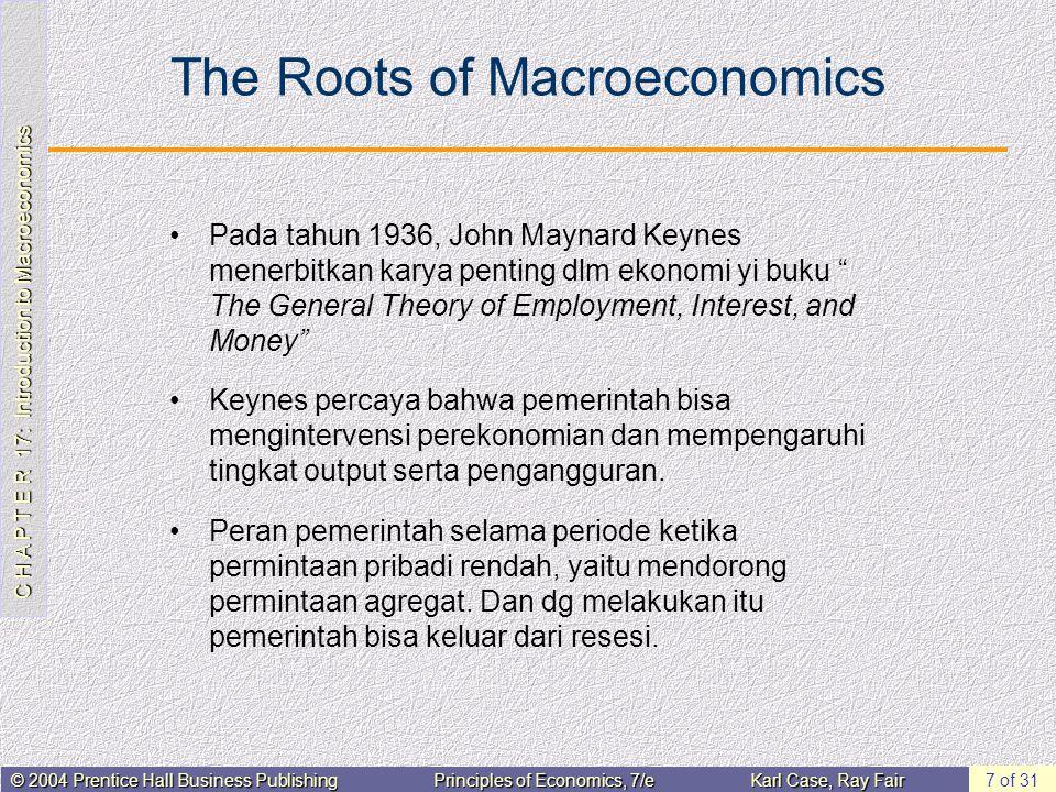 The Roots of Macroeconomics