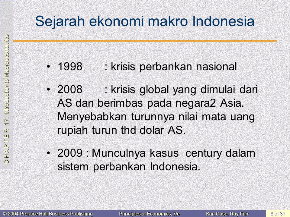 Sejarah ekonomi makro Indonesia
