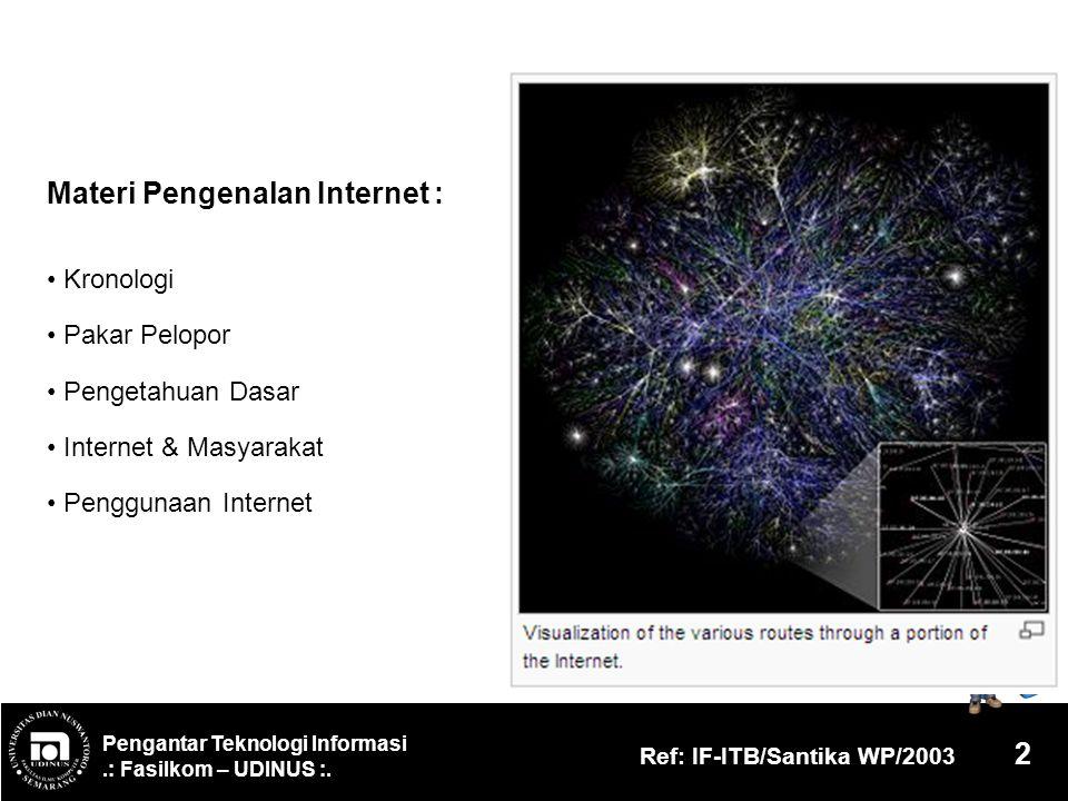 Materi Pengenalan Internet :