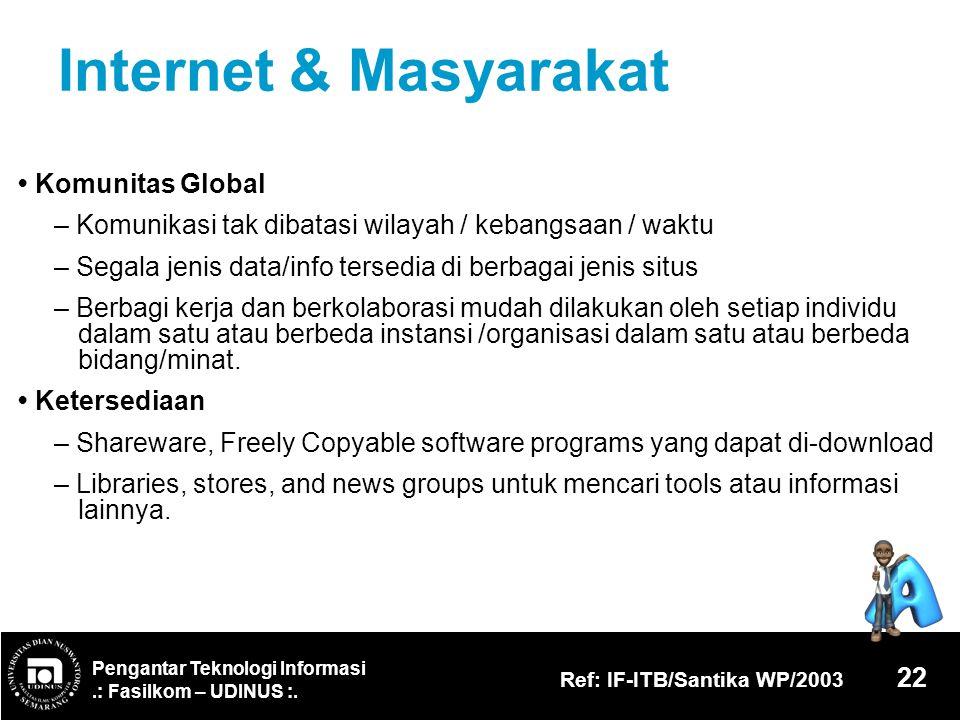 Internet & Masyarakat • Komunitas Global
