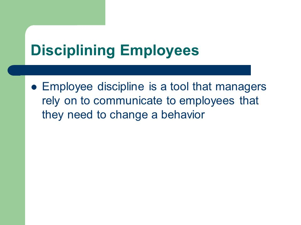 Disciplining Employees