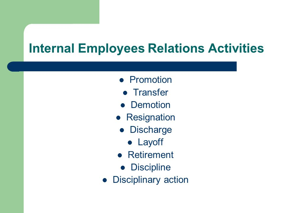 Internal Employees Relations Activities