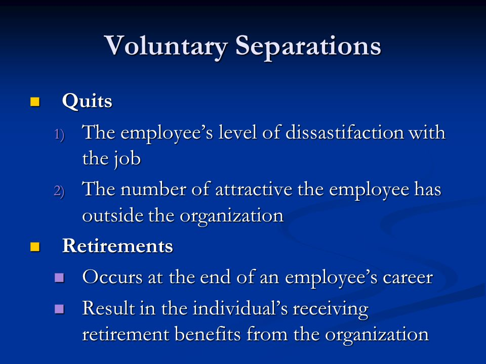 Voluntary Separations