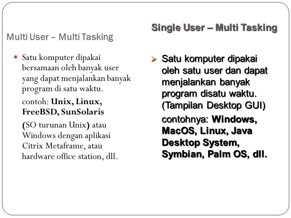 Multi User – Multi Tasking