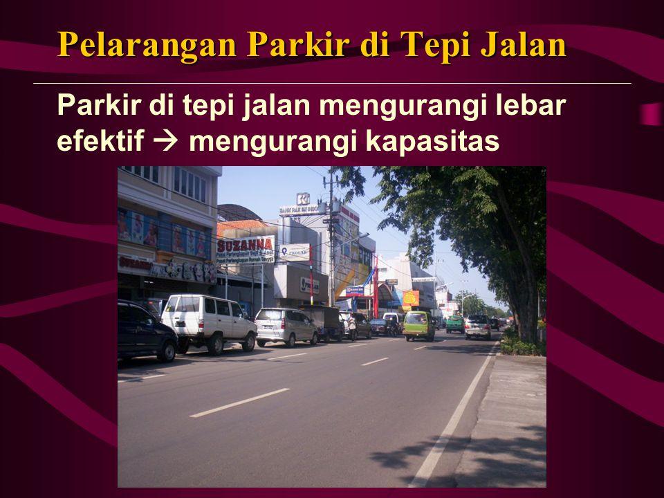 Pelarangan Parkir di Tepi Jalan