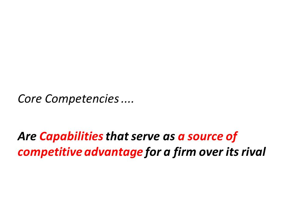 Core Competencies ....