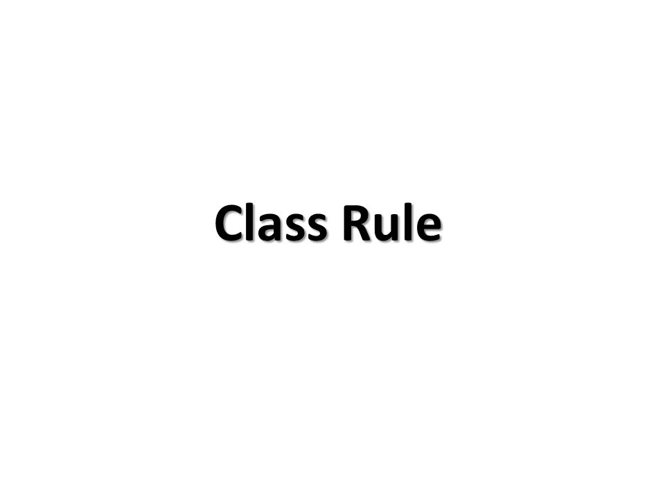 Class Rule