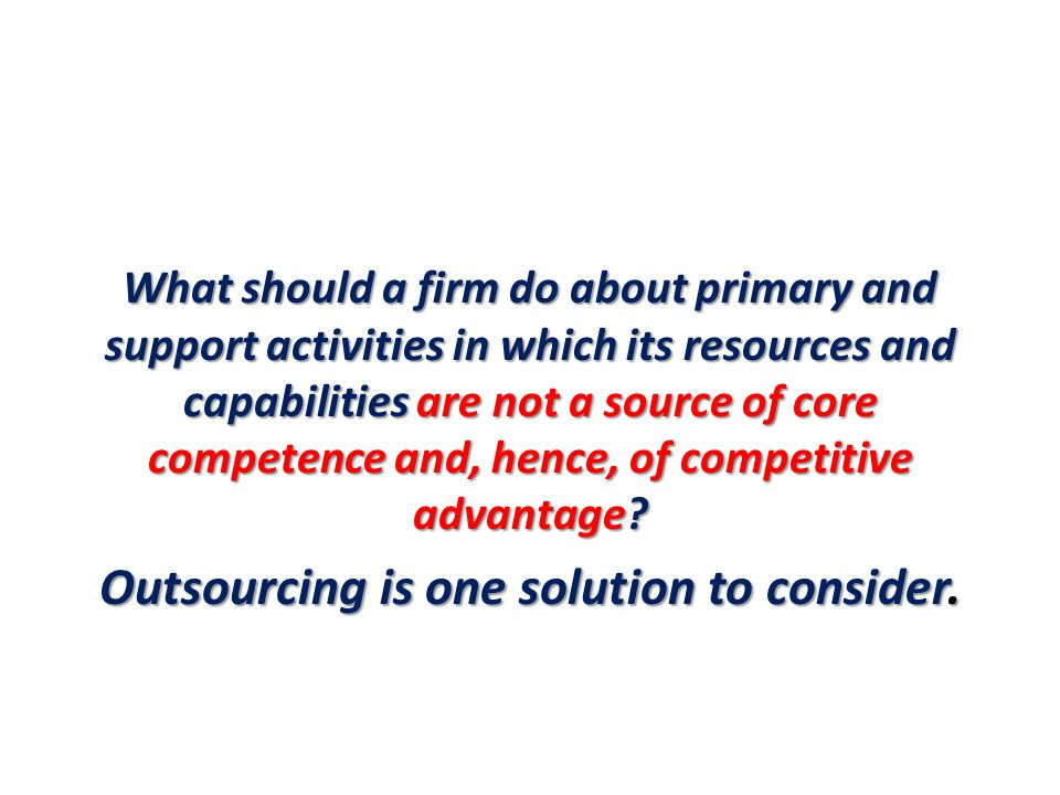 Outsourcing is one solution to consider.