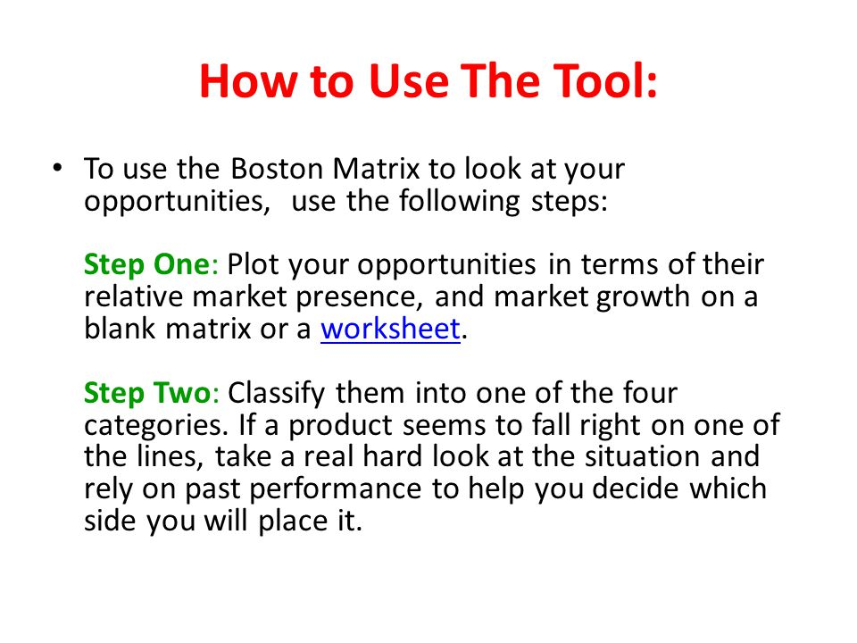 How to Use The Tool:
