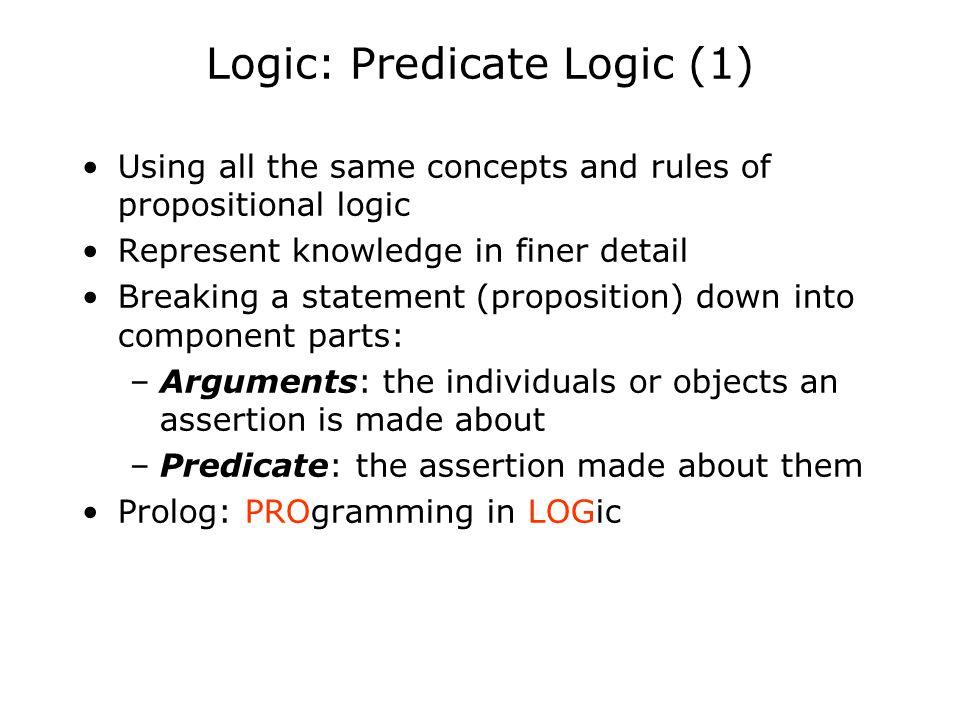 Logic: Predicate Logic (1)