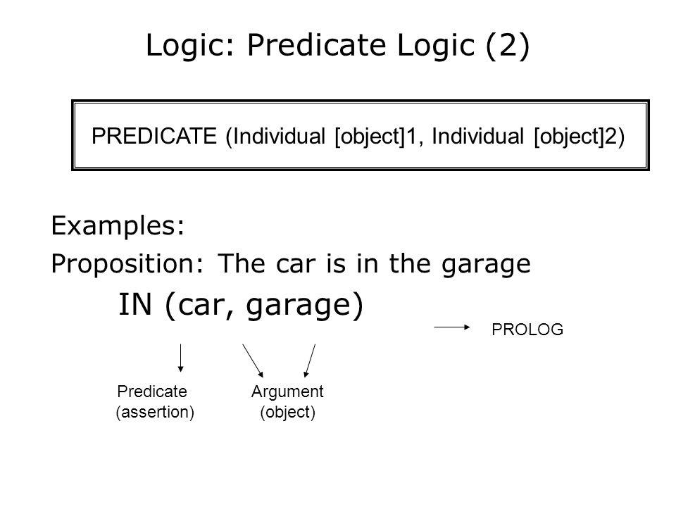 Logic: Predicate Logic (2)